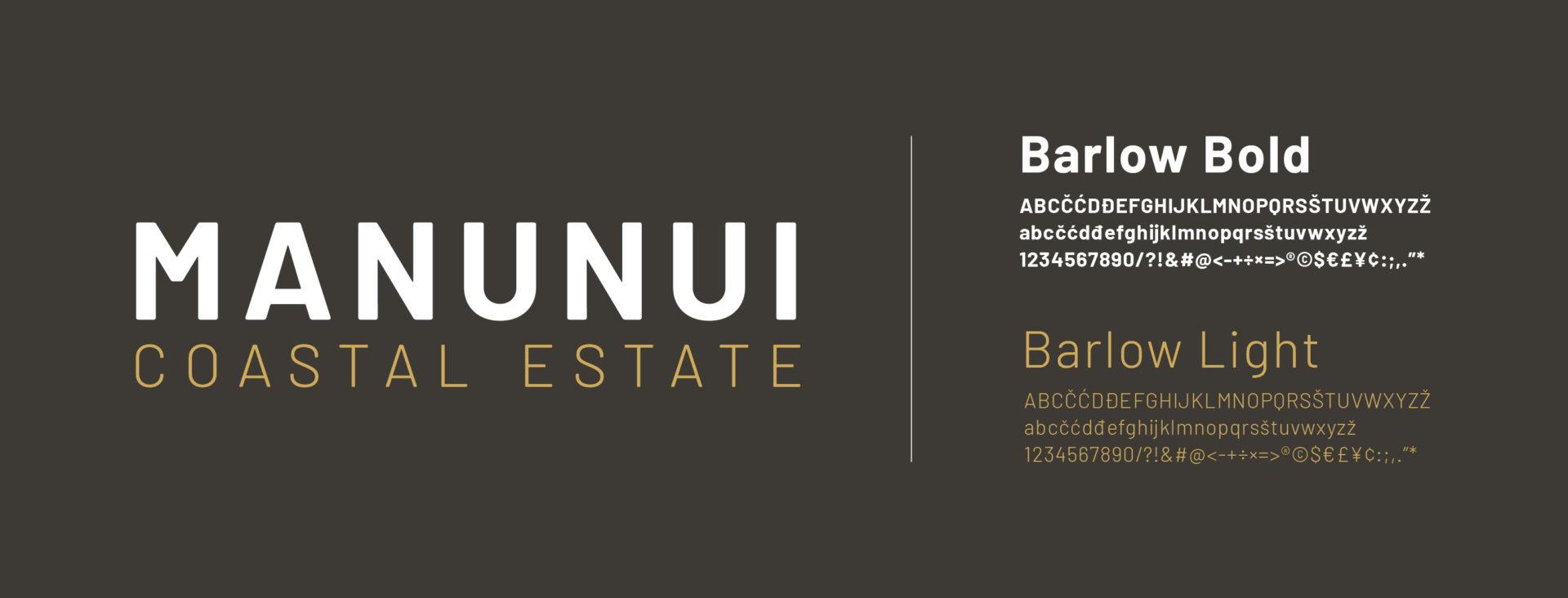 Manunui logo font typography