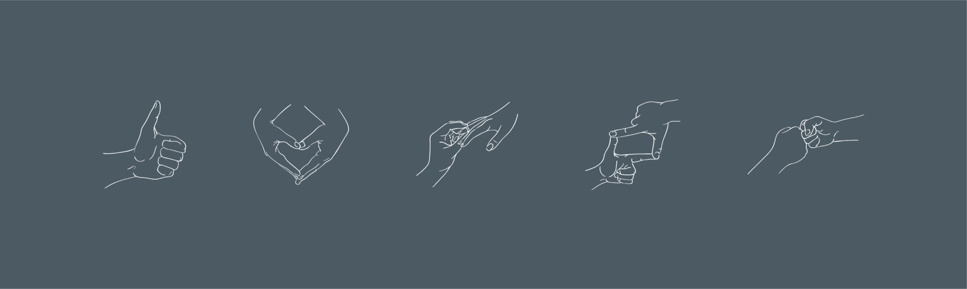 Proposal Planners icon illustrations hands