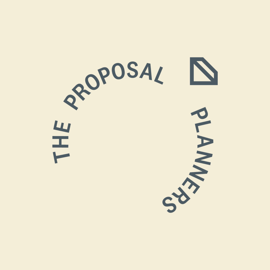Proposal Planners typography logo diamond