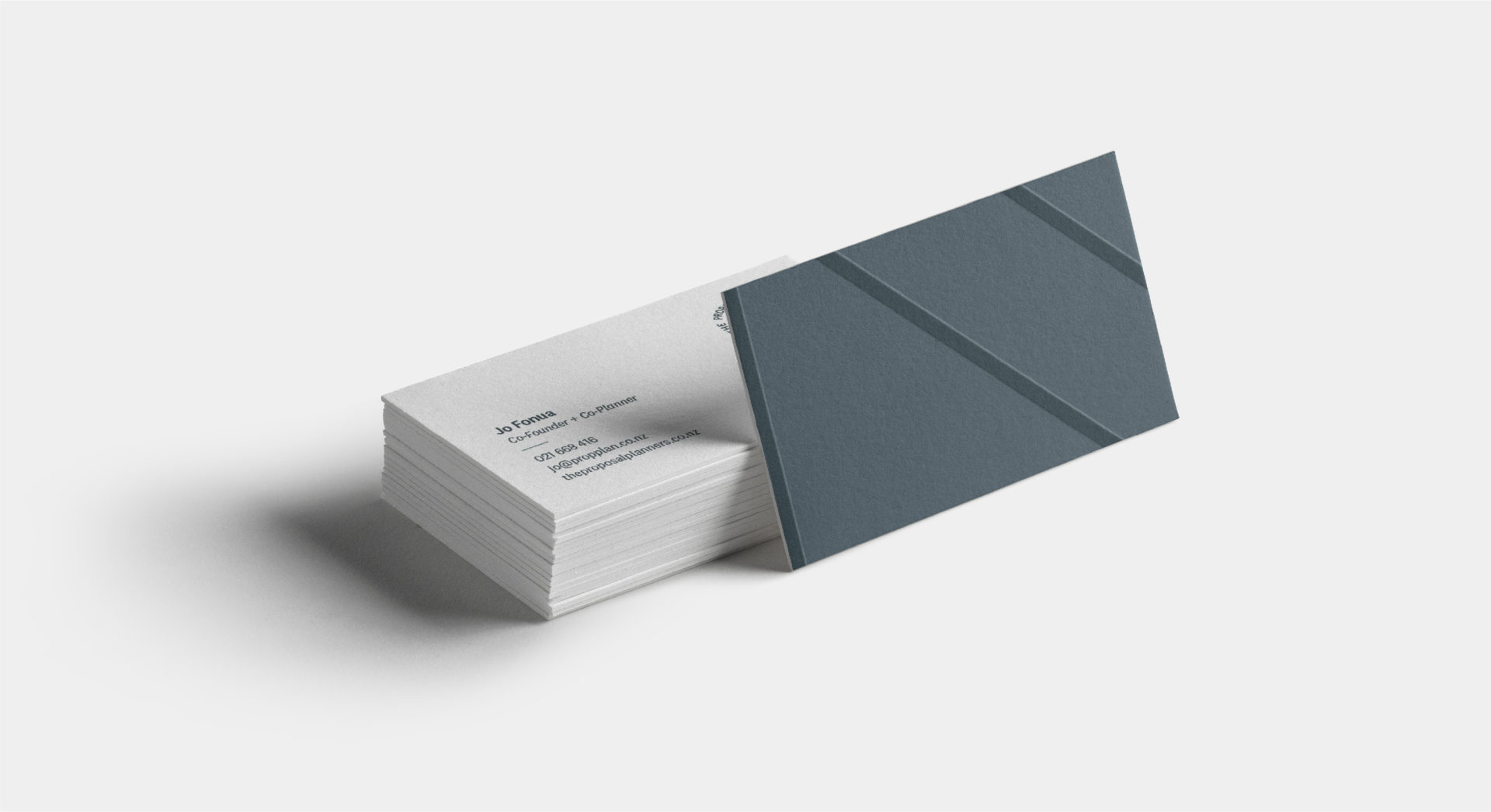 Proposal Planners business card stack