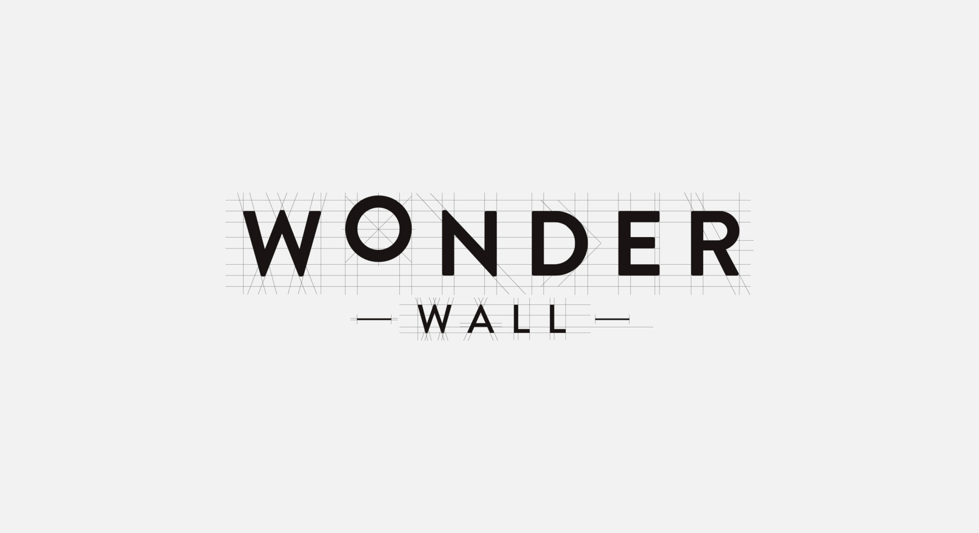 Wonder Wall logo lines