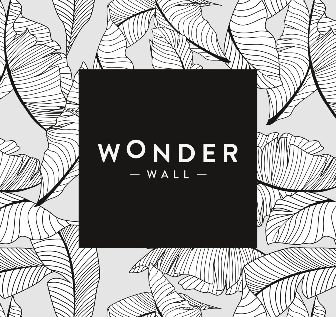 Wonder Wall logo pattern leaves square